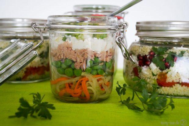 Mittagessen im Glas