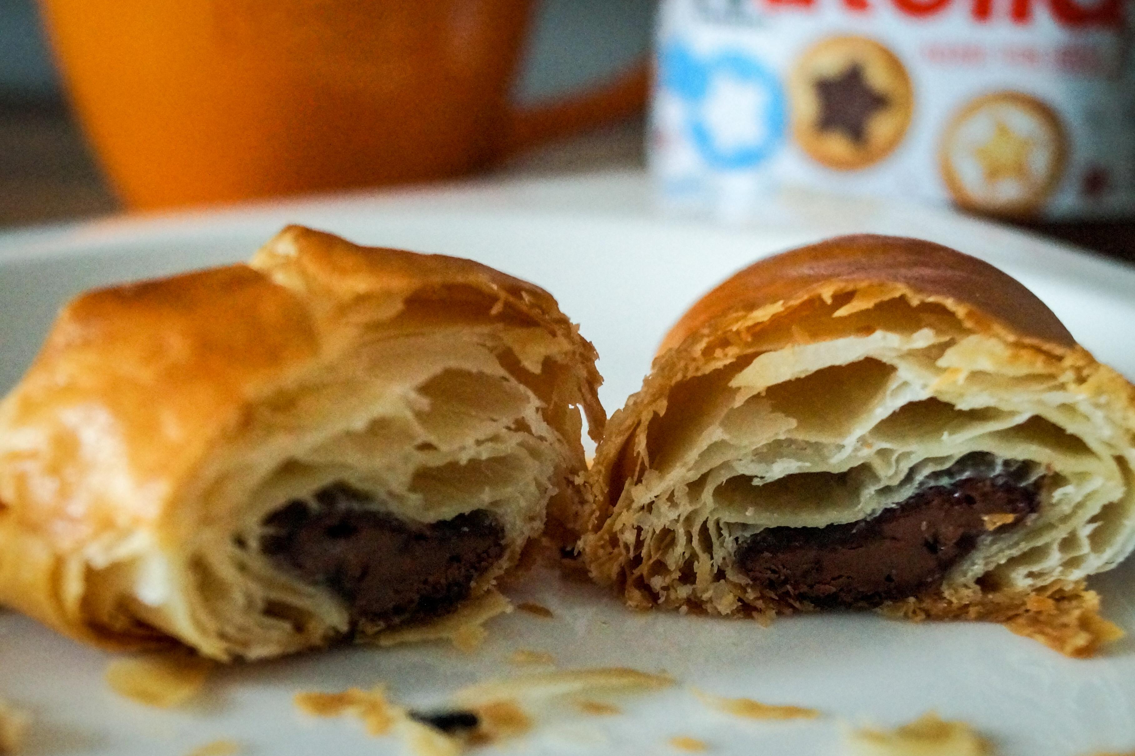 Selbstgemachter Blatterteig Nutella Croissants Tasty Sue