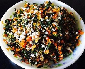 IMG_0198-300x245 Methi Carrot Curry/Sautéed Fenugreek Leaves with Carrot/Vendhaya Keerai Poriyal