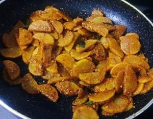 IMG_0644-300x235 Stir Fried White Radish (Sukhi Mooli ki Subji / Mullangi Poriyal)
