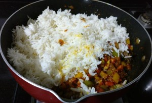 IMG_1346-1-300x204 Green Pepper Rice/Shimla Mirchi Pulao