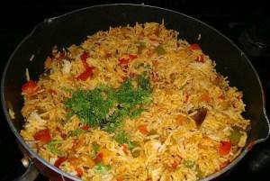 IMG_1348-300x201 Green Pepper Rice/Shimla Mirchi Pulao