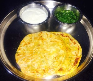 IMG_2773-300x261 Aloo Paratha /Flat Bread stuffed with Potato