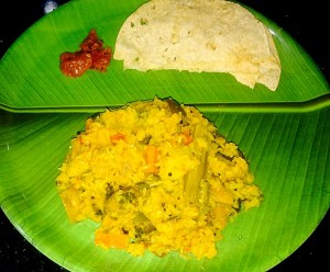 IMG_3882-300x248 Rice with Lentil and mixed Vegetables / Kootan Choru