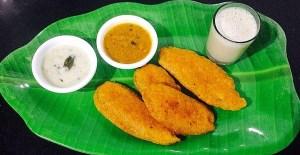 IMG_4659-300x155 Savory Plantain Fritters/Vazhakkai Bhajji