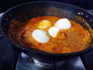 IMG_4799-300x225 Boiled Eggs in Coconut and Tamarind Gravy/ Muttai Kara Kozhambu/ Puli Kozhambu with Eggs