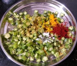 IMG_7630-300x257 Bhindi Fry / Stir Fried Crispy Okra