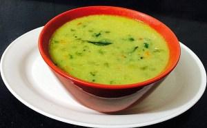 IMG_8196-300x186 Vegetable Chick Pea Flour Sambar (Soup)