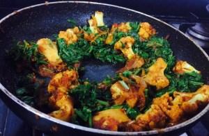 IMG_8451-300x196 Spinach and Cauliflower Curry / Aloo Gobi Curry