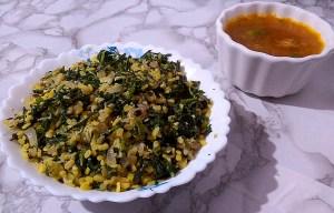 KDSC8662-2-300x192 Stir Fried Mustard Greens with Green Gram Lentil/ Sarson Ki Sukhi Bhaji/Kadugu Keerai Pasi paruppu Poriyal/