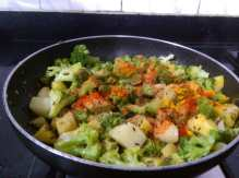 TVHU5198-300x223 Aloo Broccoli Dry Curry/Potato and Broccoli Stir fry