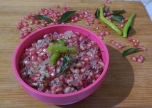 XAVV2504-2-300x214 Pomegranate Poriyal (Stir Fry) / Pomegranate Salad