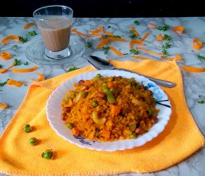 MWTV7291-300x257 Bengali Style Vegetable Poha/Flattened Rice/Aval/Chirer Pulao