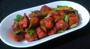 EDKZ0885-300x164 Spicy Fried Indian Cheese Cubes/ Paneer 65