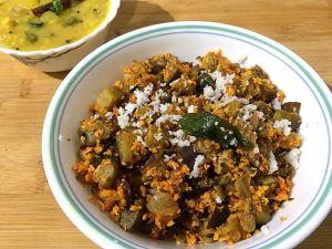 EGVD4901-300x225 Eggplant Stir fry/Kathirikai Poriyal