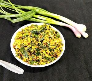 FGIT4195-300x265 Spring Onion Poriyal/ Spring Onion Stir Fry