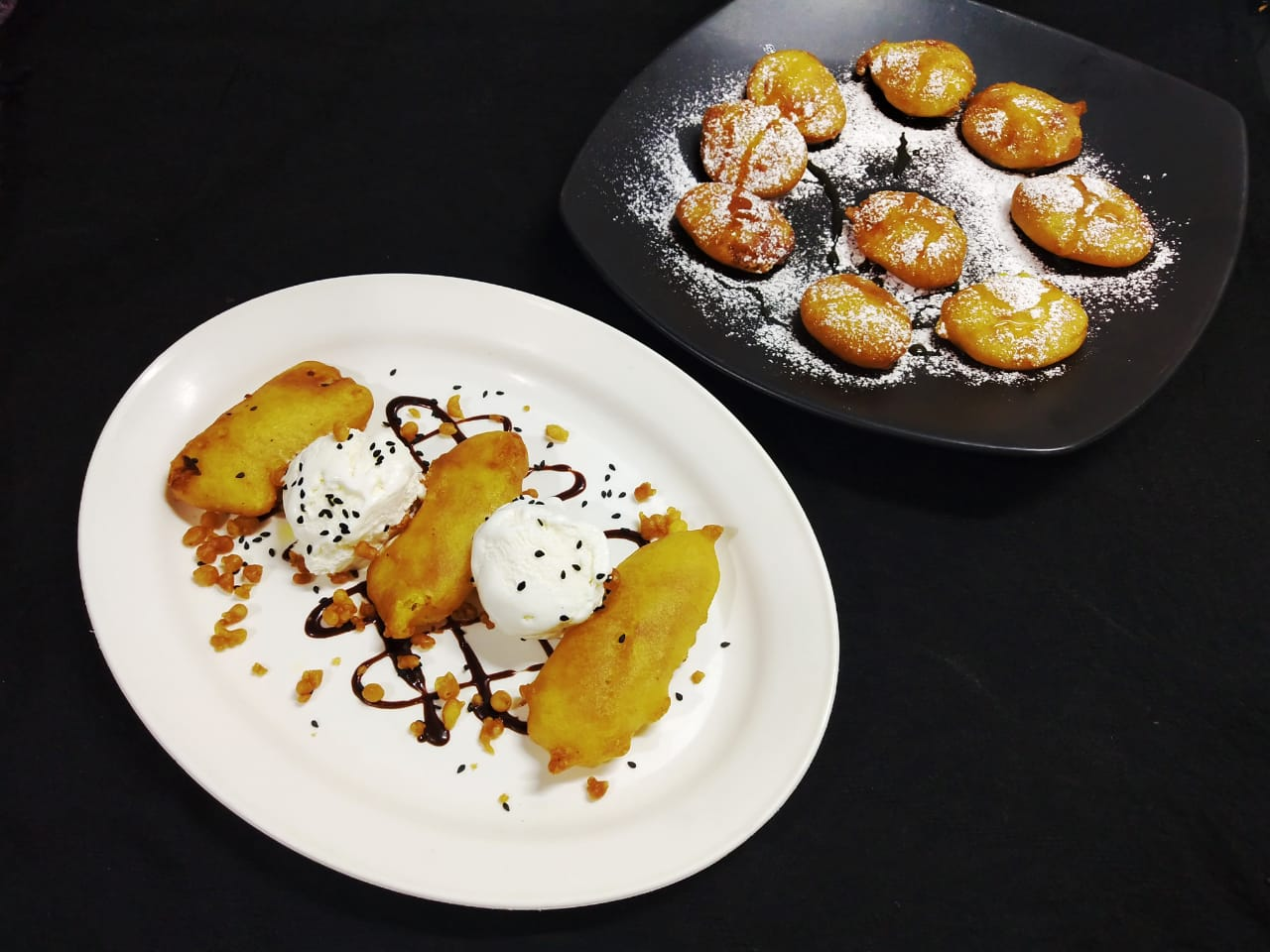 Banana Fritters Banana Fritter With Ice Cream Nendran Pazham Appam With Ice Cream Tasty Delightz