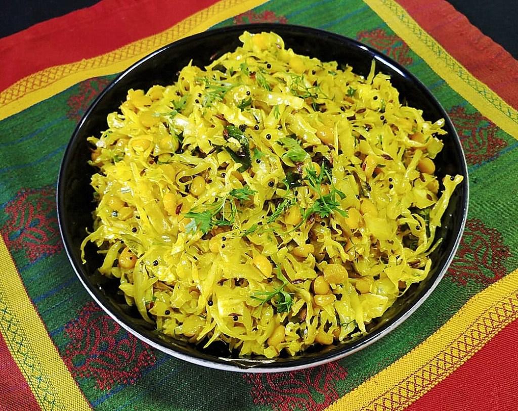 HFOQ3861-1024x813 Maharastrian Cabbage Stir Fry/ Gobichi Bhaji