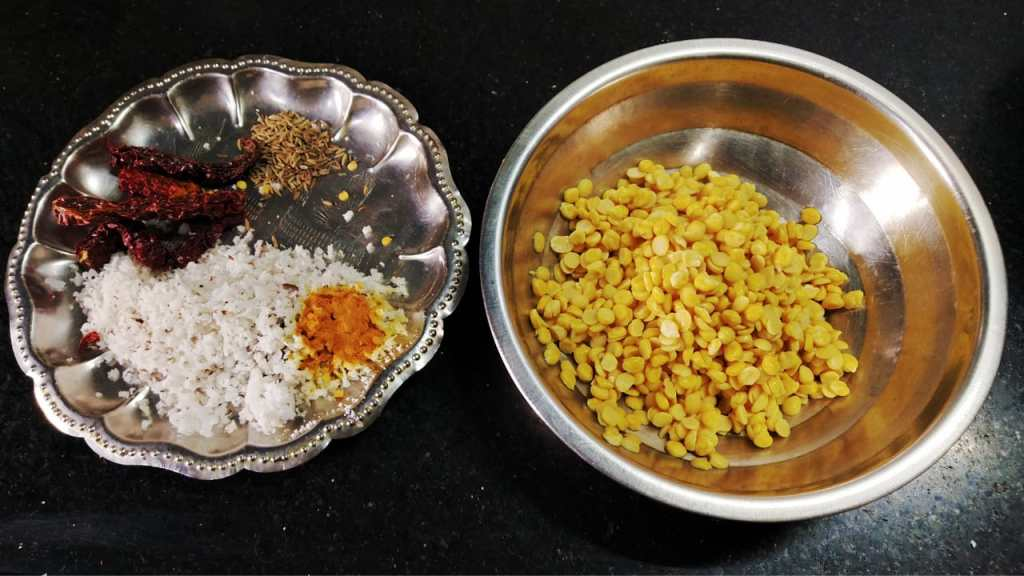 HNMB6449-1024x576 Fenugreek Leaves with Lentil/ Menthiya Soppu Matwadi