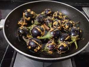 LPYM6461-300x225 Stuffed Andhra Style Brinjal (Eggplant) Curry/ Gutti Vankaya Kura