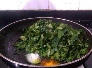 NAAO6113-300x223 Taro Leaf Stir Fry / Arbi Leaves Sukki Bhaji/ Chembilai Thoran
