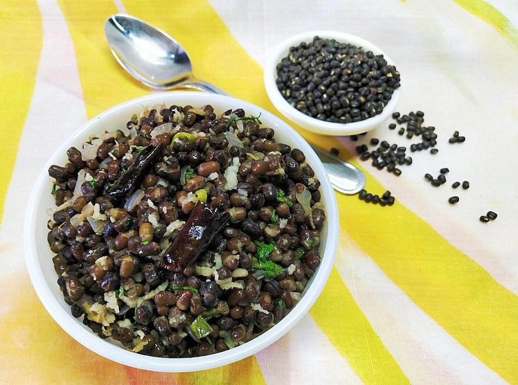 RTQZ6220-1024x760 Whole black gram stir fry/Whole Urad Dal Bhaji/Karuppu Ulundhu Sundal