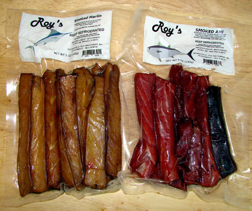 Big island eats roy 39 s smoked marlin smoked ahi pomai for Hilo fish company