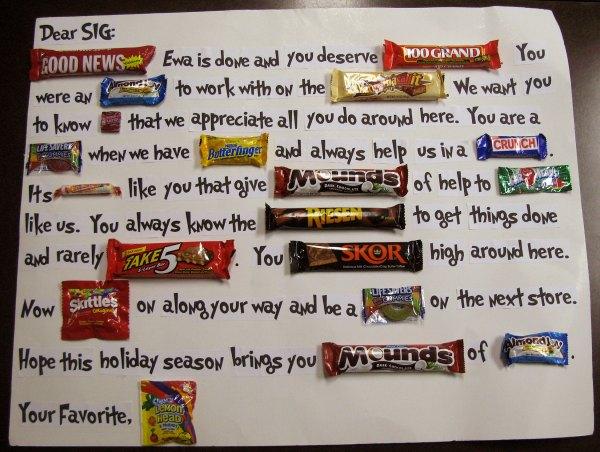 Candy Bar Birthday Card Sayings