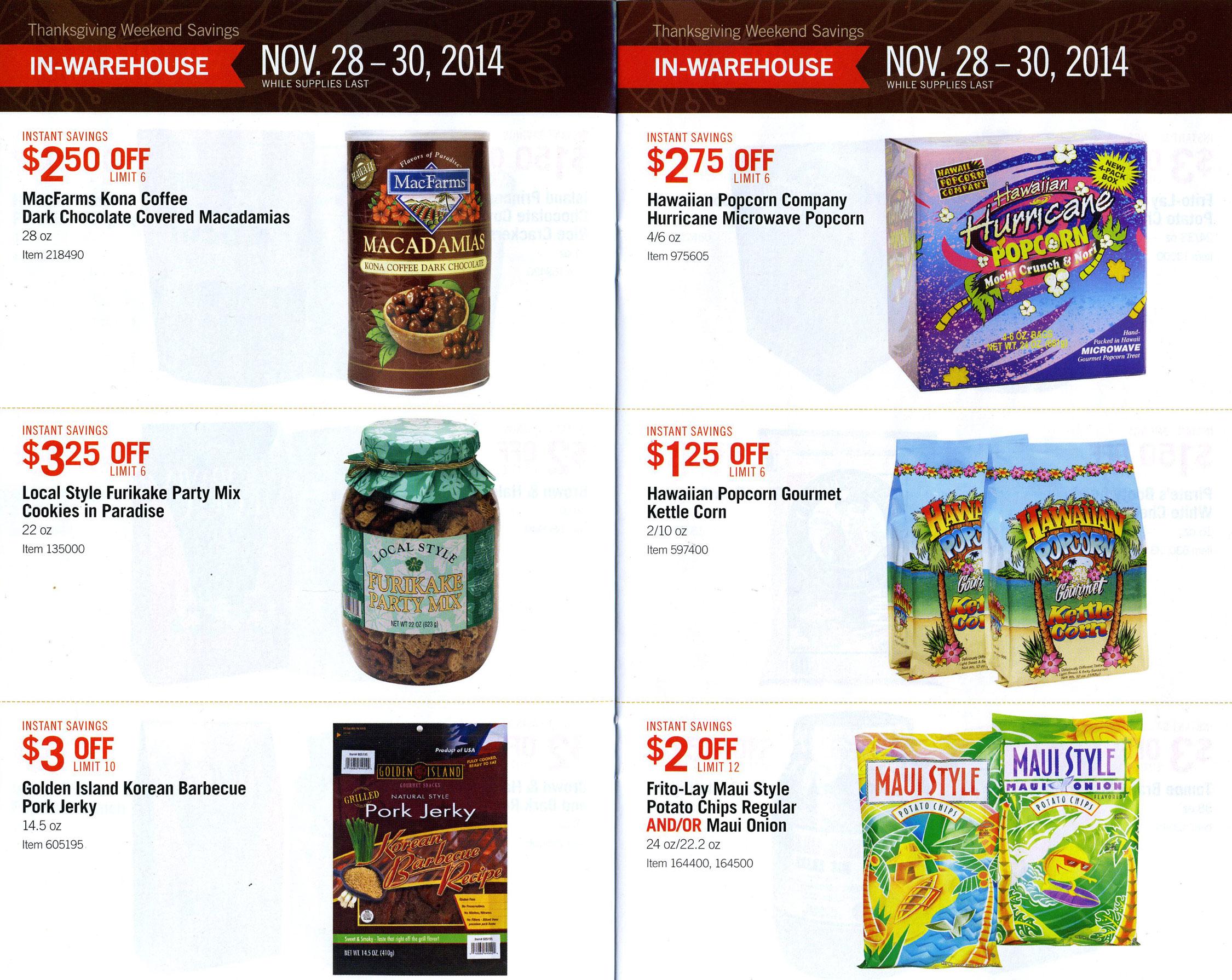 Costco Hawaii \'Kine Grindz Thanksgiving Weekend Deals – Tasty Island