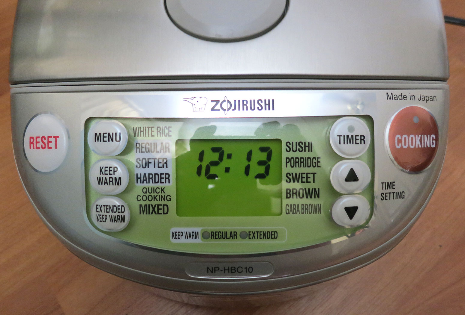 Review Zojirushi Induction Heat Rice Cooker Tasty Island Tiger Wiring Diagram Up Front On Top Where The Brains Are We Have Control Panel So You Can Tell Intelligent Fuzzy Logic Cpu What Want To Cook And When It