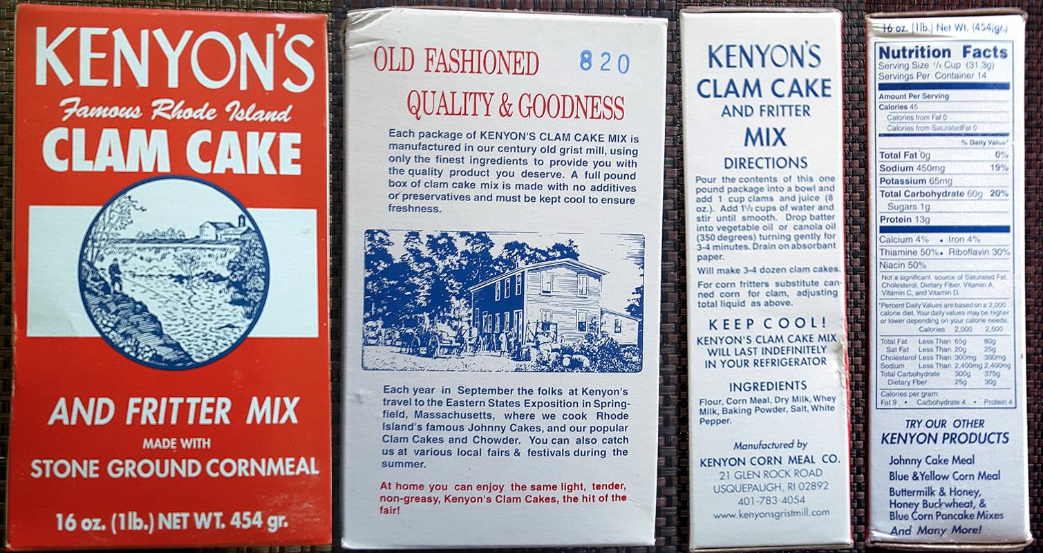 Clam Cake Mix