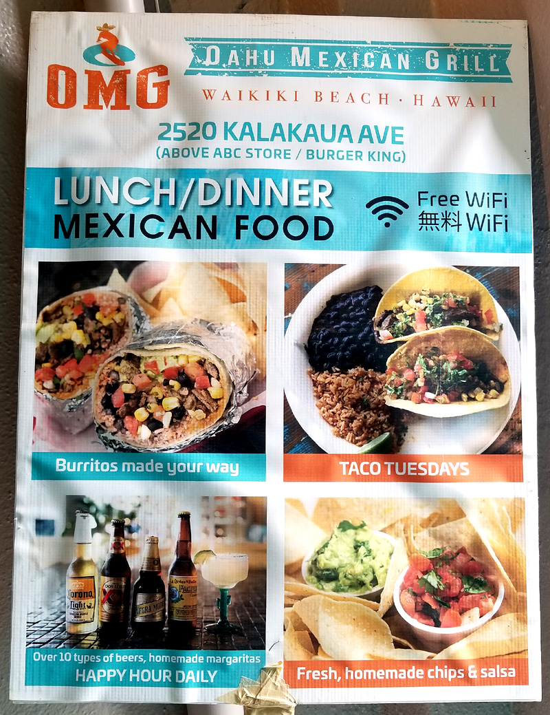 Oahu Mexican Grill puts the \'OMG\' in Waikiki – Tasty Island