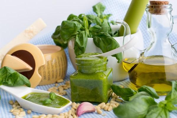 Fresh Basil Pesto Sauce Tasty Mediterraneo