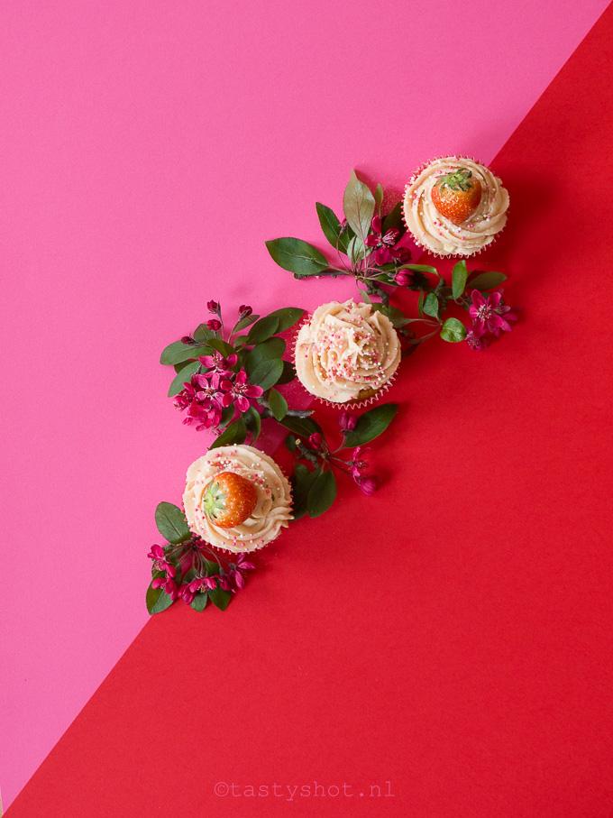 Aardbeien Cupcakes - Strawberry Cupcakes