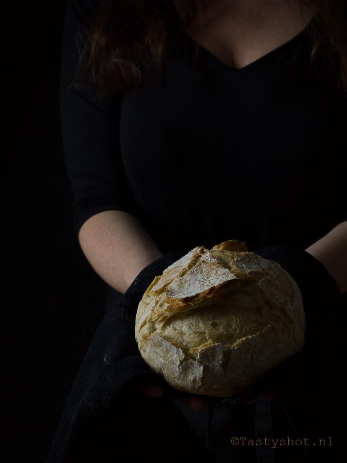 Gewoon brood zonder kneden