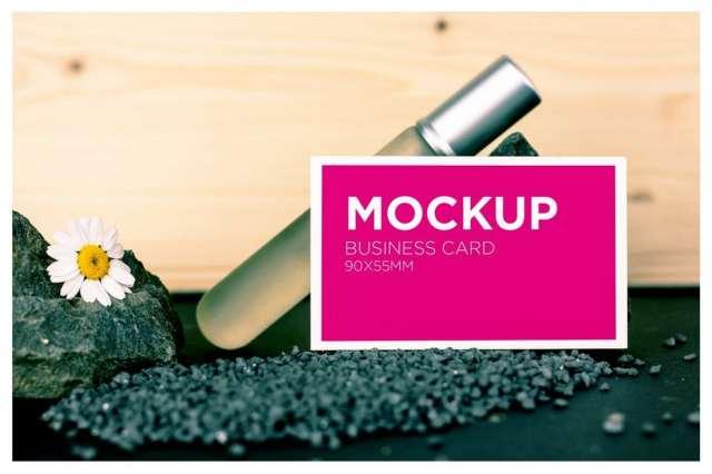 Beauty Business Card Mockup