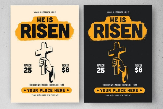 Easter Day Church Bulletin Template