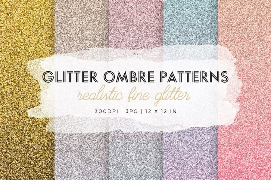 Glitter Ombre Patterns