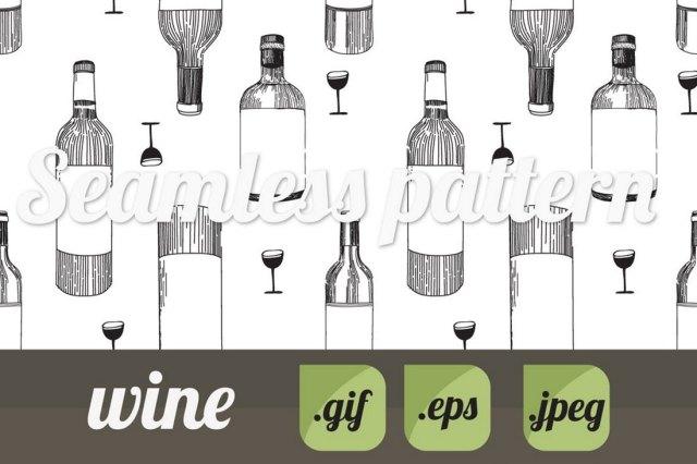 Wine Photoshop Pattern