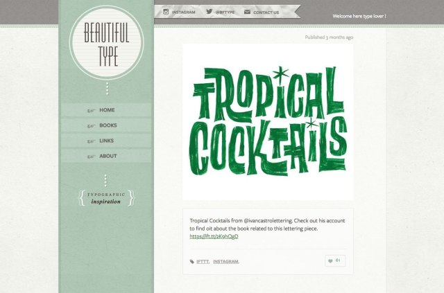 Top typography resources: Beautiful Type