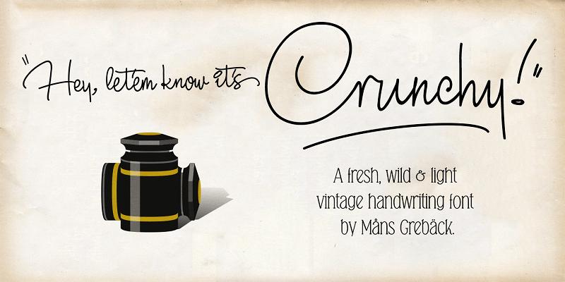 Free script font: Crunchy