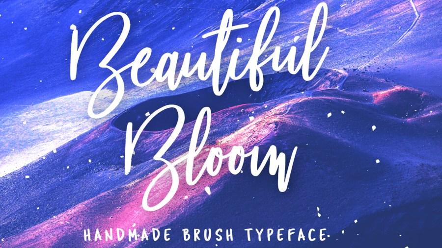 Beautiful Bloom script font