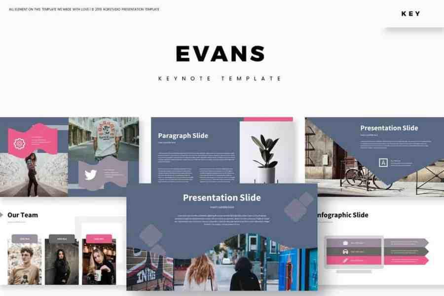 Evans - Stylish Keynote Template