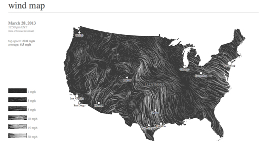 The best infographics: Wind map