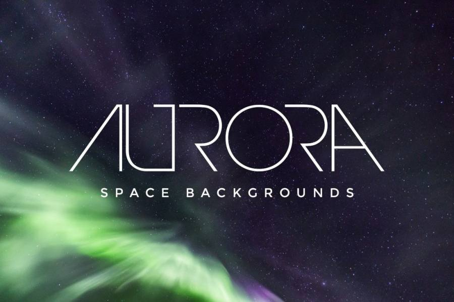 Aurora 20 Free Space Backgrounds