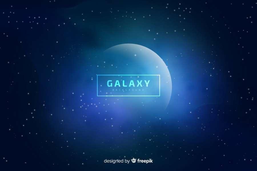 Free Blurred Galaxy Background