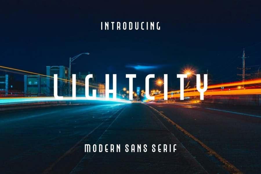 Light City - Free Modern Space Font