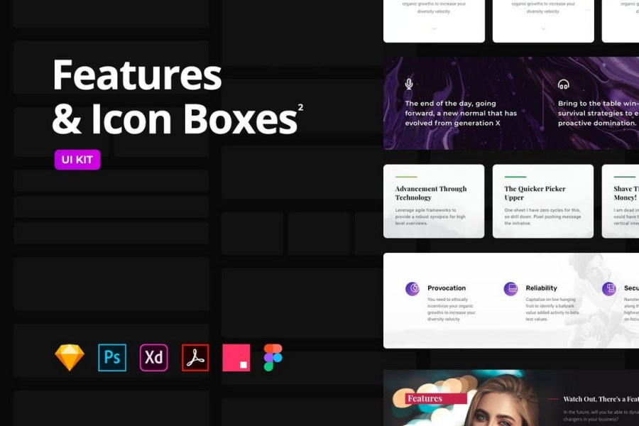 Features & Icon Boxes - Multipurpose Templates