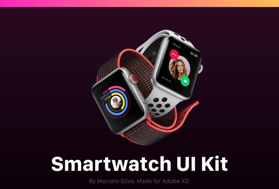 Free Smartwatch UI Kit for AdobeXD
