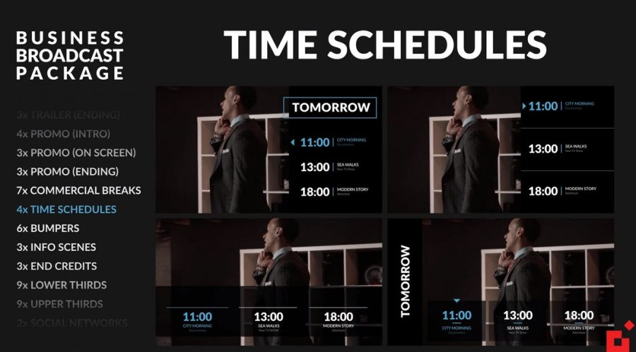 Business Broadcast Pack - Premiere Pro Template